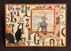 mon p'tit monde Tim Holtz, Caran D'ache, Stamp, Winter Wonderland, Cards, Home Decor, Romantic Scenes, Brown Paint, Bristol Board