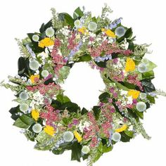 Old Town Spring Wreath Dried Flower Wreaths, Dried Flowers, Old Town Spring, Globe Amaranth, Summer Wreath, How To Make Wreaths, Door Wreaths, Valentines, Valentine Ideas