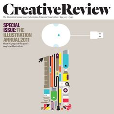 The Illustration Annual issue. Advertising design and visual culture. Icon Design, Design Art, Graphic Design, Love Magazine, Magazine Covers, Creative Review, Publication Design, Advertising Design, Editorial Design