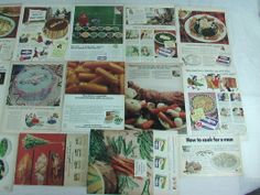 17 original Birds Eye Vegetables magazine ads 1944 to 1974. The largest advertisement is approximately 10 x 14 inches. Each ad inconspicuous...$24.99