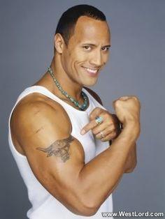 Dwayne Johnson's like.. Hey Girl, I got your sign tatooed on my arm... ;)