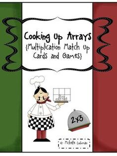 This packet includes mutiplication fact cards and array cards with suggestions for use. Common Core Standards for 3rd (3.OA.1 and 3.OA.3) and 4th (4.OA.1 and 4.NBT.5) grade met. Also included are engaging activites for small group, partners, and independent practice. $