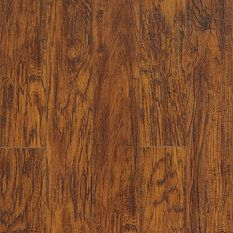 Allen Roth Laminate 6 1 8 In W X 54 3 8 In L Handscraped Saddle Hickory Laminate Flooring Home