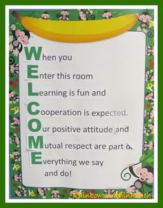 200+ Back to School Welcome Bulletin Boards at RainbowsWithinReach