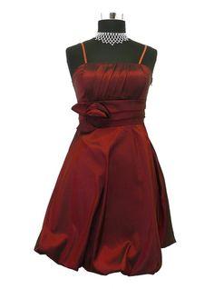 Kurzes Damen Taft Abendkleid Daniela vers. Farben Gr. 32 - 40
