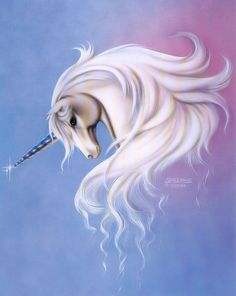Unicorn-I had this picture in my room growing up~