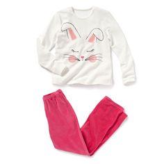 Pijama em veludo estampado R Teens | La Redoute