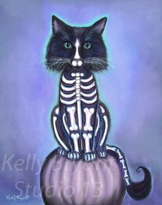 Miss Kitty Misfit, Giclee print of original pastel painting by KellyBryantStudio13 on Etsy