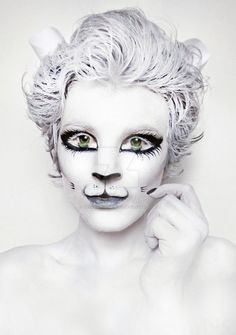 White Kitty Cat. Makeup. Body paint by NatashaKudashkina