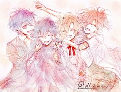 Diabolik Lovers (More Blood)- little Ruki, Azusa, Kou, and Yuma #Anime #Game #Otome