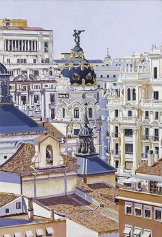 Roofs of Madrid Madrid Travel, Spain And Portugal, Culture Travel, Spain Travel, Vacation Spots, Places To Visit, Around The Worlds, City Sketch, Renaissance Architecture