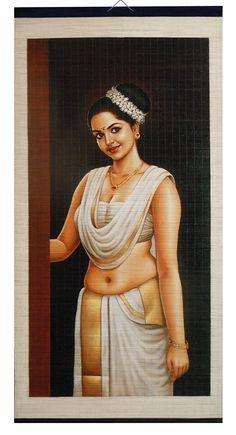 Indian Women Painting, Indian Art Paintings, Kerala Mural Painting, Watercolor Paintings For Beginners, Composition Art, Girly Drawings, Beautiful Rangoli Designs, Painting Of Girl, Fantasy Girl