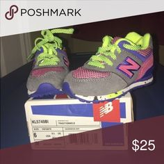 Toddler Girl Colorful New Balances - Size 6 Worn once - great condition - Toddler Girl Colorful New Balances - Size 6 New Balance Shoes Sneakers
