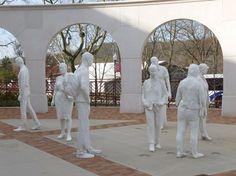 outdoor George Segal sculptures at Montclair State University