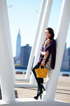 Keep warm in a dress confidently, by adding a cozy poncho!