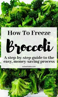 How to Freeze Broccoli: A Step-By-Step Guide to Preserving Your Extra Veggies Freezing Vegetables, Freezing Fruit, Canning Vegetables, Frozen Vegetables, Veggies, Freezing Broccoli, How To Freeze Broccoli, Frozen Broccoli, French Tips