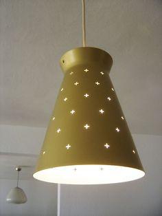 LOVELY Mid Century Modern HILLEBRAND Pendant Lamp LIGHT STILNOVO Sarfatti ERA
