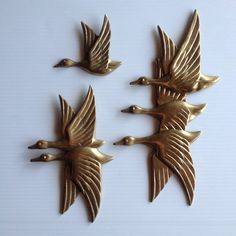 Hey, I found this really awesome Etsy listing at https://www.etsy.com/au/listing/278378196/3-brass-geeseducks-in-flight-wall