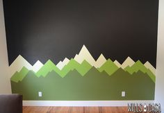 Mountain Mural: The Makings of a Ron Swanson Nursery - Wills Casa