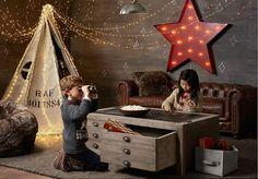 Vintage Industrial Yet Cute Kids' Playroom Ideas