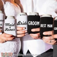 Create your ultimate #wedding favor here as koozies are the perfect favor for your guests!  A free bride & groom koozie are also included with EVERY order!