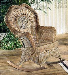 Beautiful Serpentine Wicker Rocking Chair