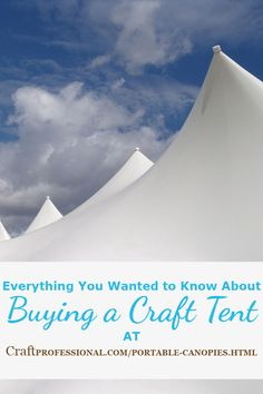 Loads of information about choosing the right craft tent for your needs here /  sc 1 st  Pinterest & Portable Canopies Buying Guide for Craft Shows | Portable canopy ...
