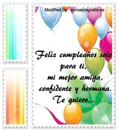 mensajes de cumpleaños para enviar por Whatsapp,mensajes de cumpleaños para facebook: http://www.consejosgratis.es/saludos-y-mensajes-lindos-de-feliz-cumpleanos-para-amigos/
