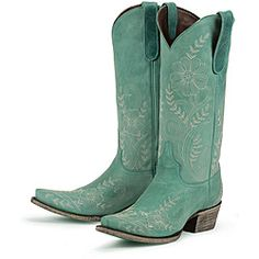 teal cowboy boots