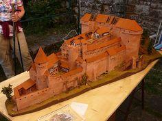 Burg Neuscharfeneck, Rekonstruktionsmodell von Erwin Merz, 2012