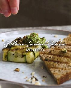 Pesto, Zucchini, Sprouts, Bread, Vegetables, Video Thumbnail, Recipes, Bbq, Food