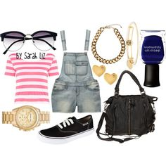 """""""Styling Overalls"""" by sarahlizmulligan on Polyvore"""