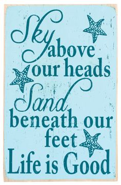 sand and sky ocean quote - sometimes it's the little things in life!