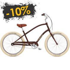 bicicleta urbana electra townie balloon 3i brown