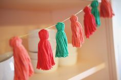 Yarn Tassel Garland