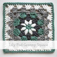 Lily Pad Granny Square | Free pattern + tutorial