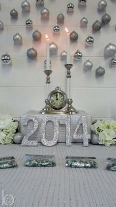 Great backdrop at a New Year's Eve party!  See more party ideas at CatchMyParty.com!  #partyideas #newyears