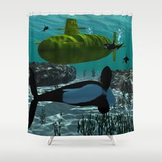 #Submarine #Shower #Curtain by nicky2342 - $68.00