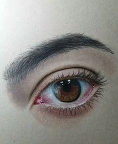 draw a realistic eye - realistic drawings Realistic Pencil Drawings, Pencil Art Drawings, Art Drawings Sketches, Eye Drawings, Drawing Faces, Eye Drawing Tutorials, Drawing Techniques, Drawing Ideas, Eyes Artwork