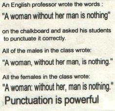 punctuation..hah!