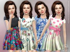 Designer Dresses Collection P24 by lillka at TSR • Sims 4 Updates