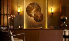 Bohemia Suites & Spa (Gran Canaria, Spain) - Design Hotels™ Open Space Living, Living Spaces, Mahogany Flooring, Spa Reception, Massage Room, Spa Massage, Spa Design, Best Hotel Deals, Futuristic Furniture