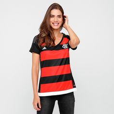 Netshoes dos Namorados  Camisa feminina Adidas Flamengo 2016 R  109 5f86611b8bd91