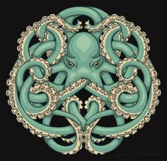 Octopus Celtic knot design | We Heart It