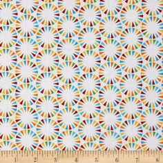 The Circus Pennant Circles Primary White