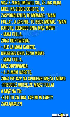 Mąż z żoną umówili się,że… – eHumor.pl – Humor, Dowcipy,  Najlepsze Kawały, Zabawne zdjęcia, fotki, filmiki