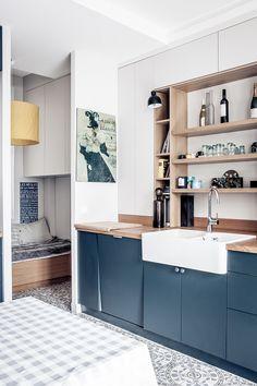 Un appartement haussmannien en bleu à Paris - PLANETE DECO a homes world