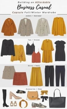 So erstellen sie eine herbst / winter business casual kapsel garderobe Capsule Wardrobe Essentials, Capsule Outfits, Fall Capsule Wardrobe, Fashion Capsule, Capsule Wardrobe Examples, Capsule Wardrobe How To Build A, Travel Outfits, Quoi Porter, Streetwear