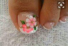 17 Ideas french pedicure designs toenails pretty toes for 2019 French Manicure Toes, French Pedicure Designs, Pedicure Nail Art, Toe Nail Designs, Toe Nail Art, Pedicure Ideas, Nails Design, Cute Toe Nails, Pretty Nails