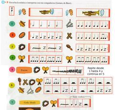 Carmen – Coro de niños, de Bizet Orquestación de la Editorial ANAYA. Libro de música de 3º. Mira la escenificación: Otra versión: Music Do, Music For Kids, Music Worksheets, Music And Movement, Music School, Music Activities, Chant, Elementary Music, Music Classroom